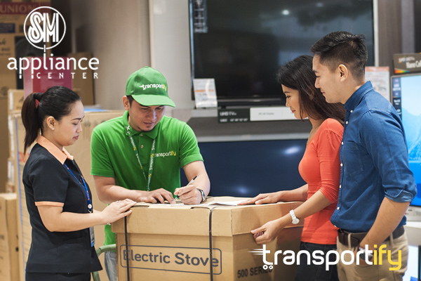 transportify app, appliances delivery Philippines, (3pl) third party logistics, courier and delivery services, sm appliance, SM, sm appliance center, lalamove, mober