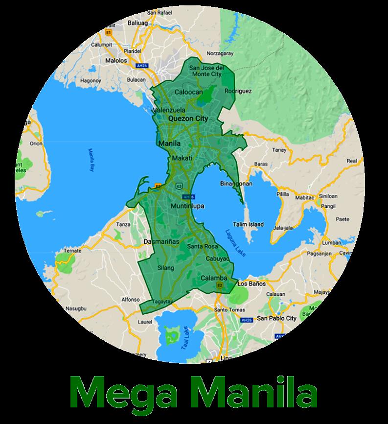 MEGA MANILA SERVICE AREA MAP