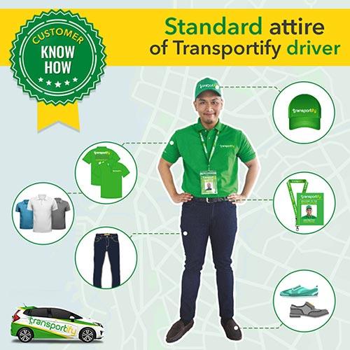 transportify driver uniform