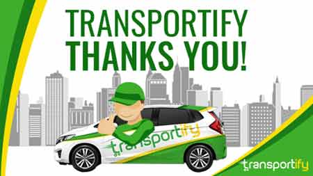 Transportify Thanks You! Feature