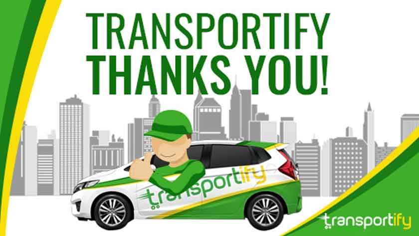 Transportify Thanks You Main