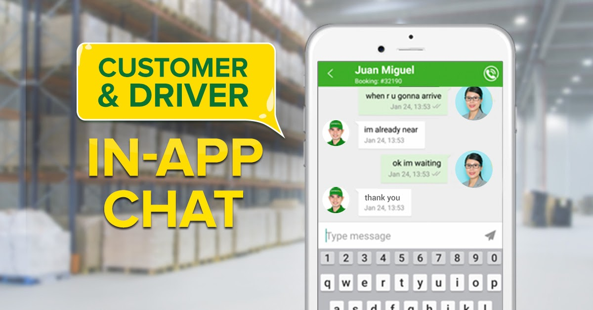 in app chat of transportify