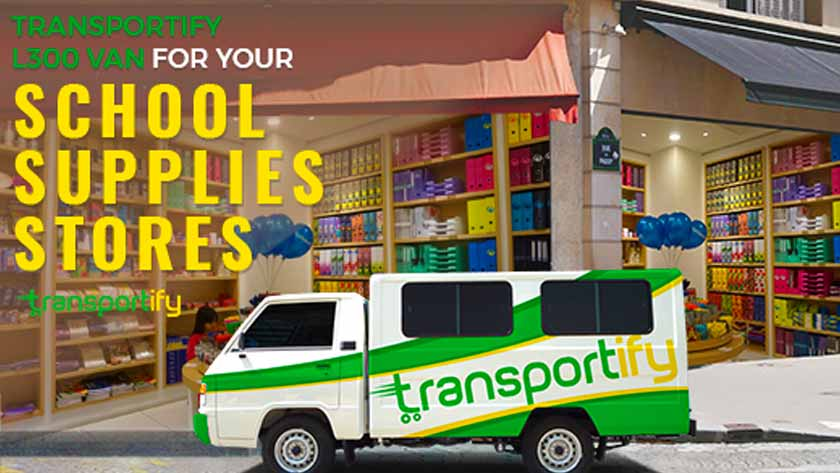 Transportify L300 Van for Your School Supplies Stores