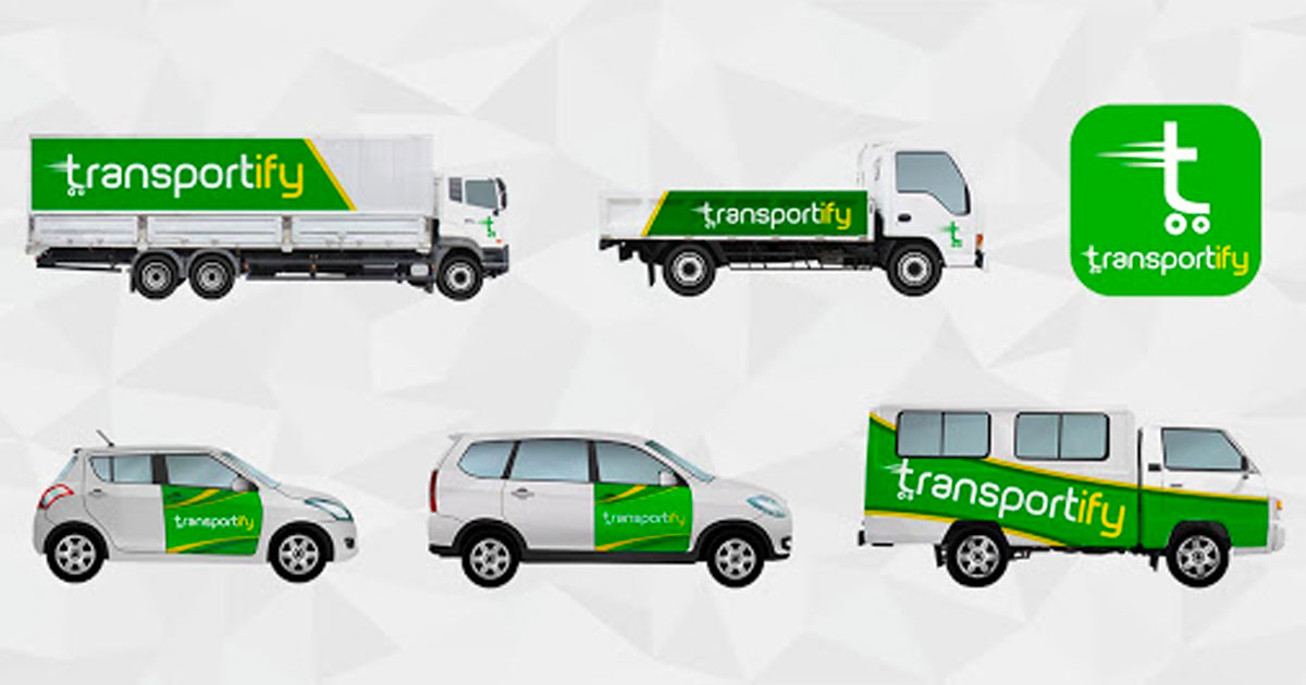 Transportify Sticker on Cargo Trucking Services Manila