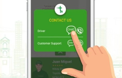 Customer and Driver Live Chat on Mobile App