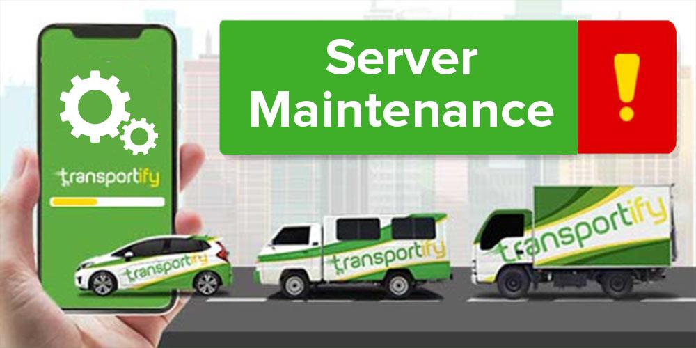 Server Maintenance Banner