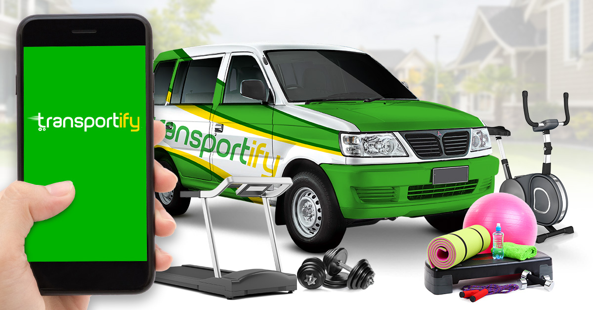 transportify delivers gym equipments