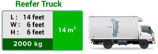 frozen truck dimension