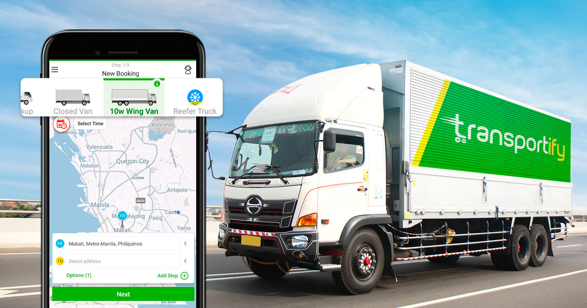 10 Wheeler Wing Van on a Cargo Delivery App