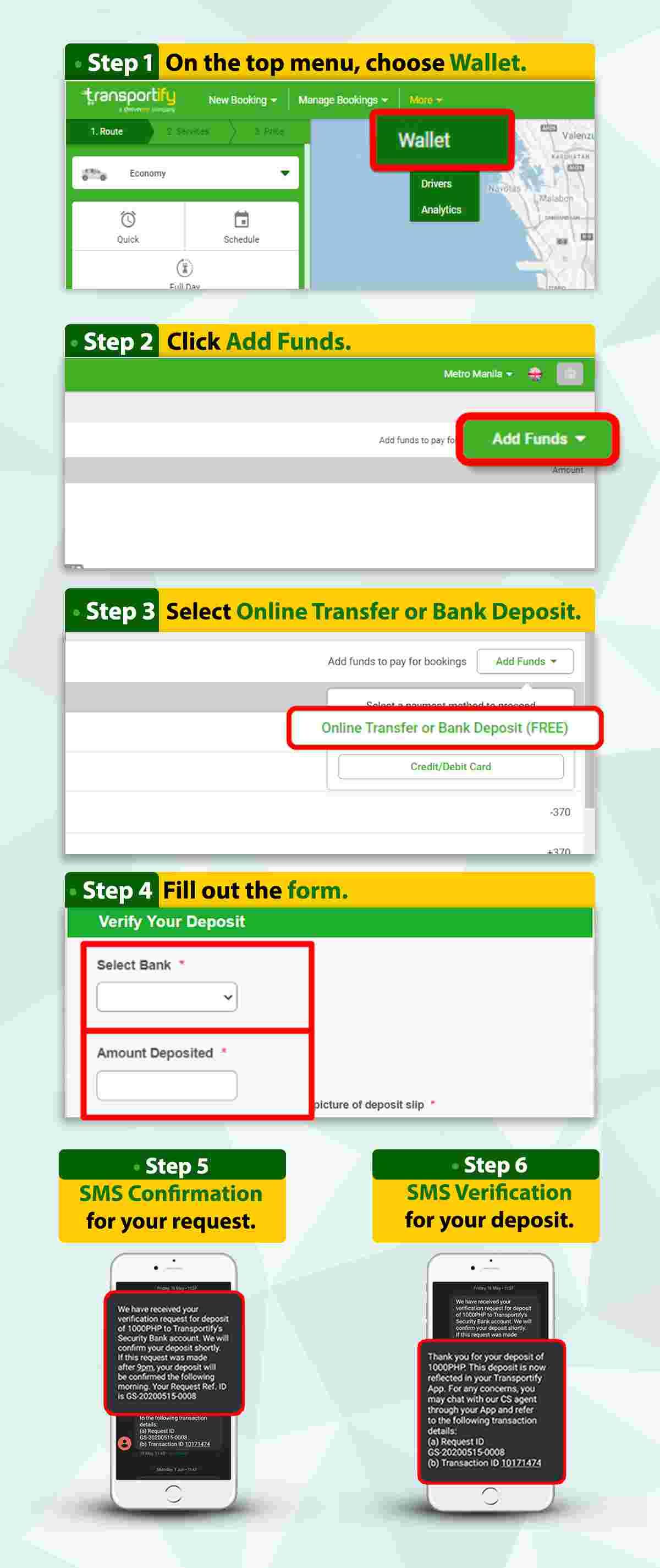 No Fee Add Funds via Bank Transfer