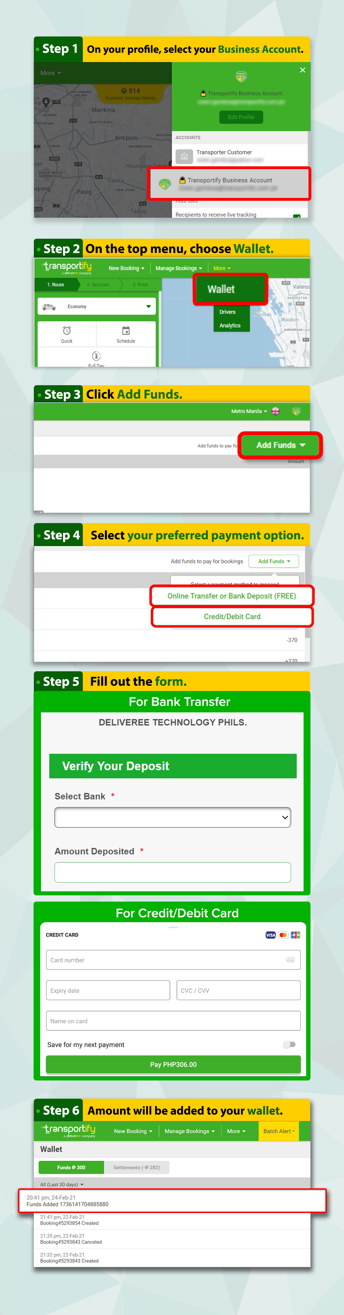 Add Funds to your BP Account - Web App