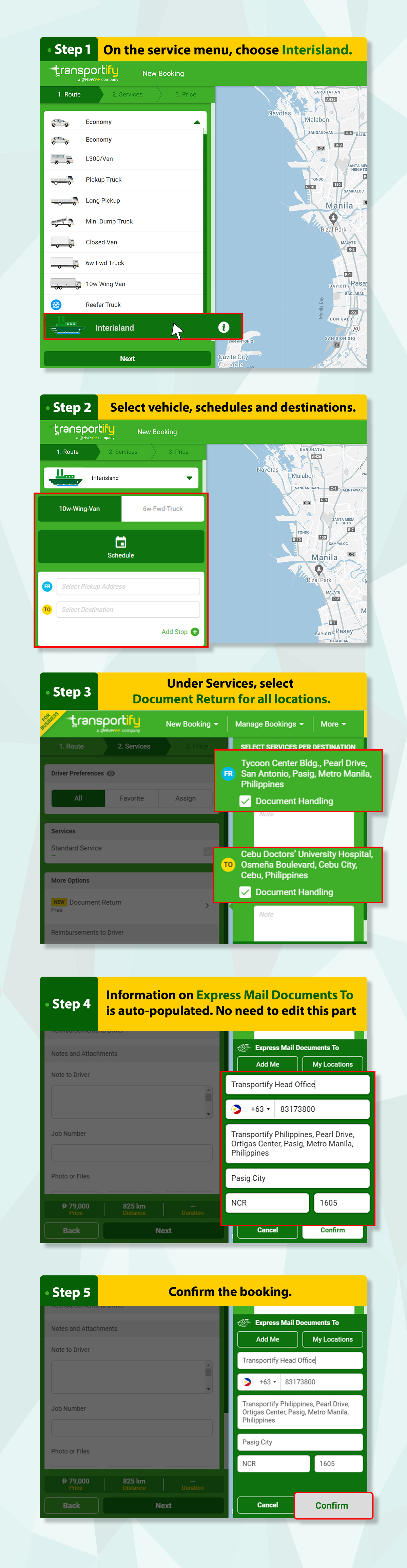 How to Make an Interisland Booking