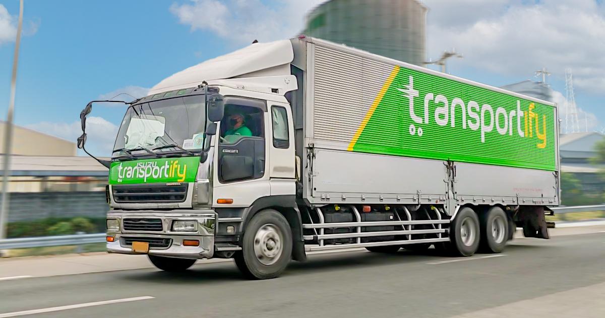 Domestic Shipment via Delivery Service Truck