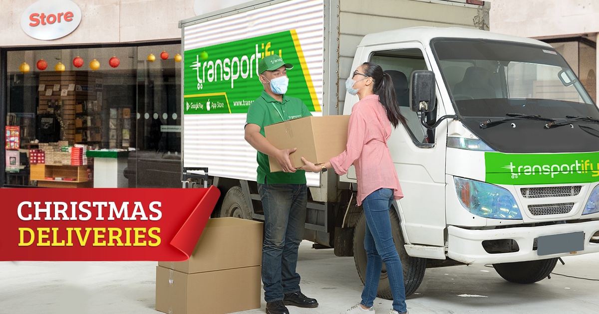 Delivery of Packages During Christmas Season in the Philippines